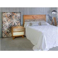 Lâmpada de pisos de madeira / metal