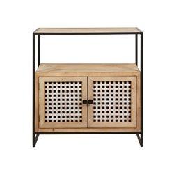 Rot-Konsole Tisch 2 Türen und 2 Schubladen